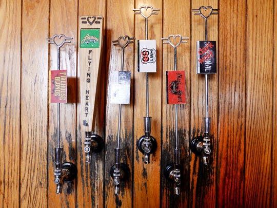 Taps at Flying Heart Brewery in Bossier City.