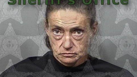 Gypsi Patrick, 46, of Cocoa, was arrested Thursday after deputies say she passed fake $20 bills at various shops in Merritt Square Mall. This mugshot is from a prior arrest in June.