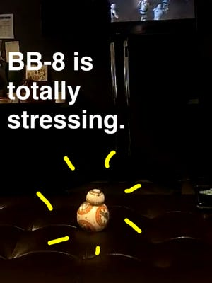 Screen capture of BB-8 on EnquirerSnaps.