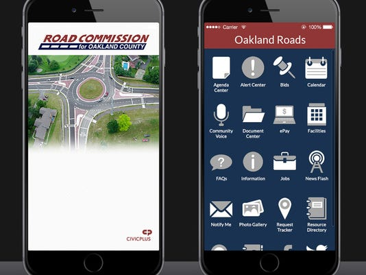 Road Commission for Oakland County app