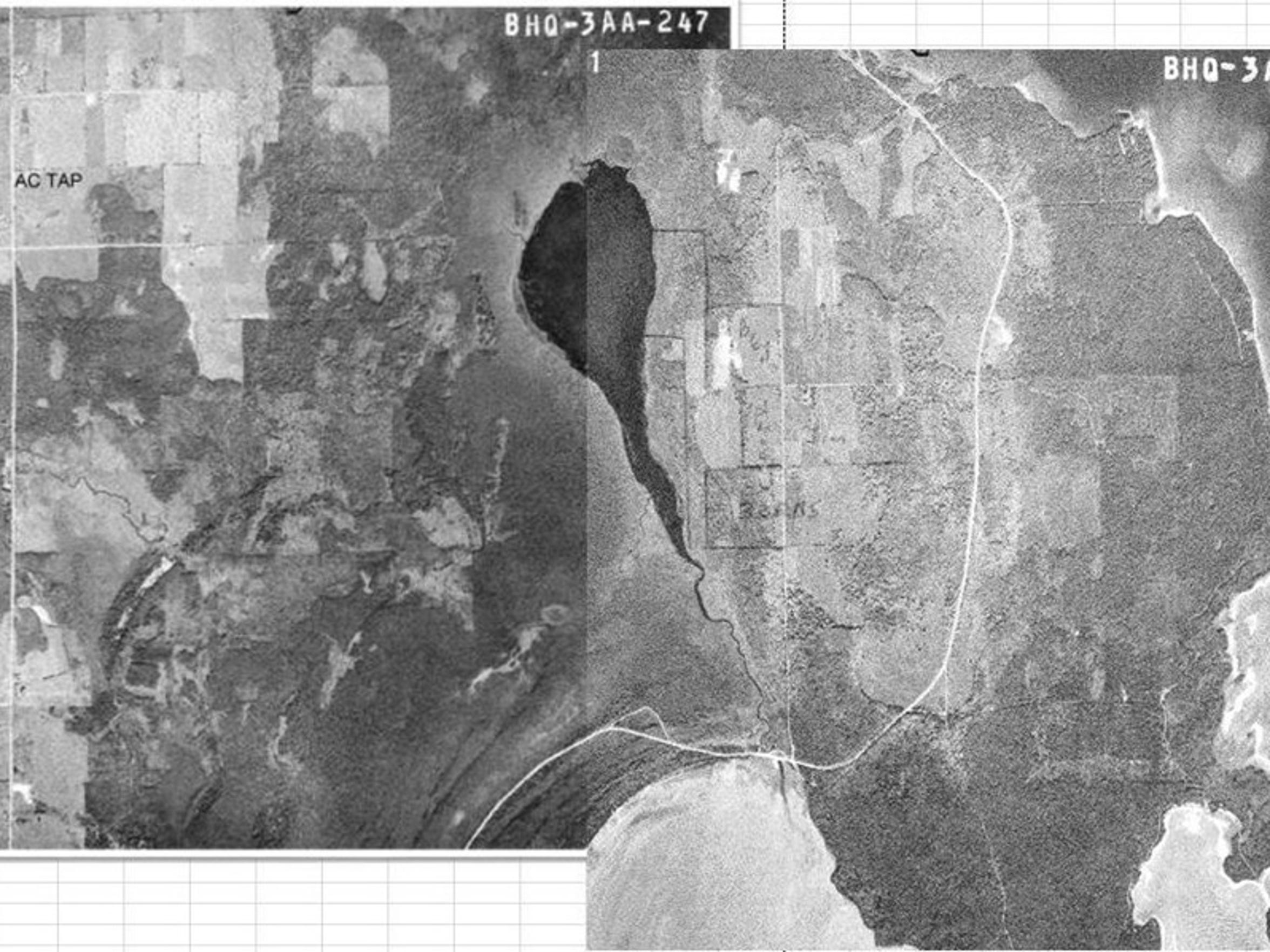 Two aerial shots provided by the Door County Soil and Water Conservation office shows the Mud Lake State Wildlife Area as it appeared in the 1960s. Door County Sheriff's Chief Deputy Pat McCarty matched the images up and labeled various landmarks.