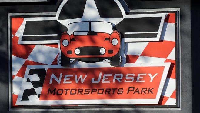 New Jersey Motorsports Park sign.