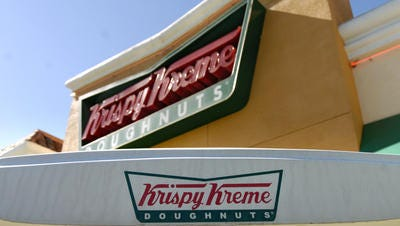 Krispy Kreme Doughnut store.