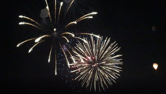 The annual fireworks display along the Pecos River lasted for approximately 40 minutes on July 4.