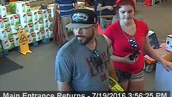 The Corpus Christi Police Department is searching for a man suspected of theft.