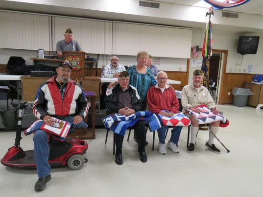 Ozark Post 3246 Veterans Of Foreign Wars Honored By Quilt