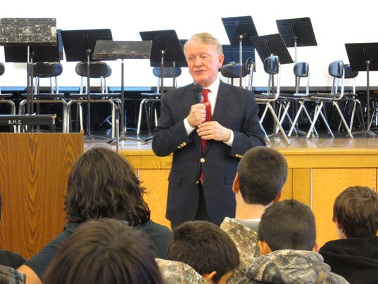 Elected officials visit Readington Middle School