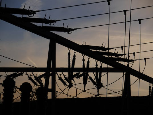 Electrical power grid in silhouette