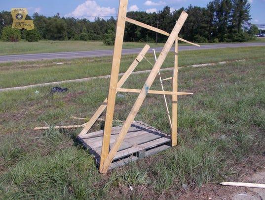 Louisiana highway road debris Sherell Lewis death