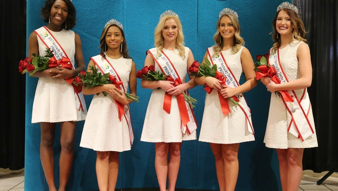 Kentucky Derby Festival princesses are announced Monday at Macy's.  LEFT TO RIGHT: Taylor Marchelle Young, Daphne Woolridge, Sidney Cobb, Natalie Brown and Kailee Barnes.January 9, 2017