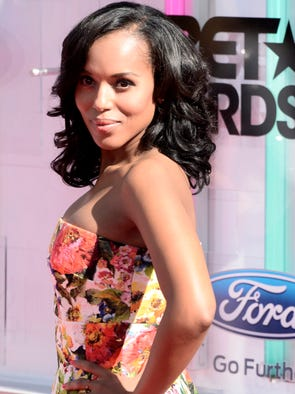 Kerry Washington arrives for the 2014 Black Entertainment Television Awards on June 29 in Los Angeles.
