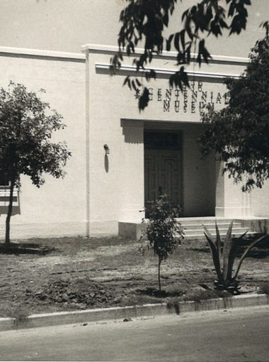 The 1936 Centennial Museum on Park Avenue in an undated photo.