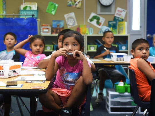 First grade students are seen in class at Natchez Elementary School in Wadsworth on Sept. 6, 2017. Jason Bean/Reno Gazette-Journal- USA TODAY NETWORK