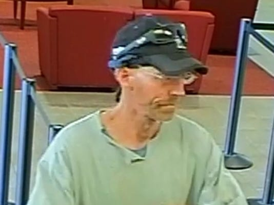 Bank-robbery suspect