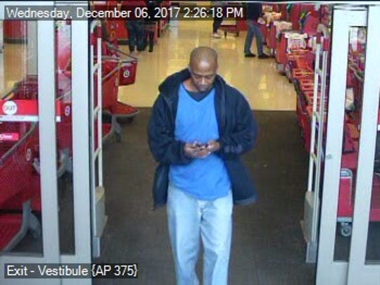Police said the man in this surveillance photo taken from the Target in West Manchester Township is wanted for alleged retail theft. This photo was taken around 2:26 p.m. on Dec. 6.