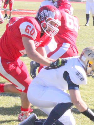 Cobre's Dylan Rottman was the only local football player to make All-State's first team as an offensive lineman.