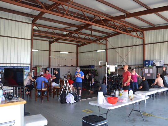 The drop zone at Skydive Allegan.