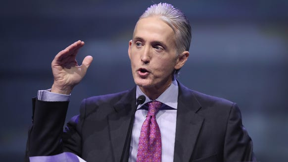 Rep. Trey Gowdy (R-S.C.) speaks at the National Rifle