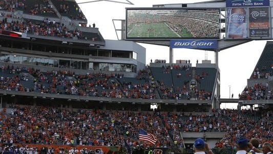 Bids to build a new high-definition scoreboard for the Bengals are in, and it will cost about $10 million, most of which will be covered by taxpayers.