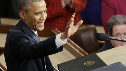 President Obama during the State of the Union on Tuesday night.
