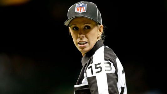 Sarah Thomas, the first-ever female NFL referee, will speak at Women in Sports Day at the Mississippi Sports Hall of Fame & Museum Friday.