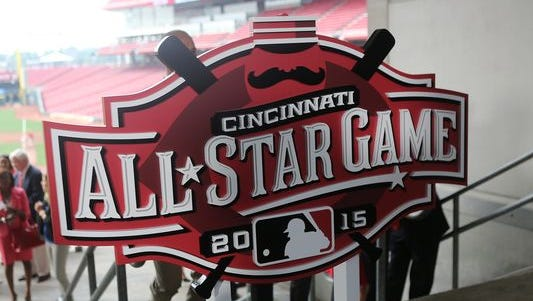 The All-Star Game logo for 2015 was revealed last year at Great American Ball Park in Cincinnati, Ohio.
