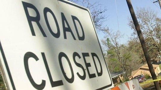 A portion of Pinhook Road will be closed Thursday morning.