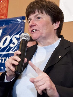 Vermont State Treasurer Beth Pearce, pictured in 2012, raised more than 10 times more money than her Democratic primary opponent Richard Dunne in the most recent campaign finance cycle.