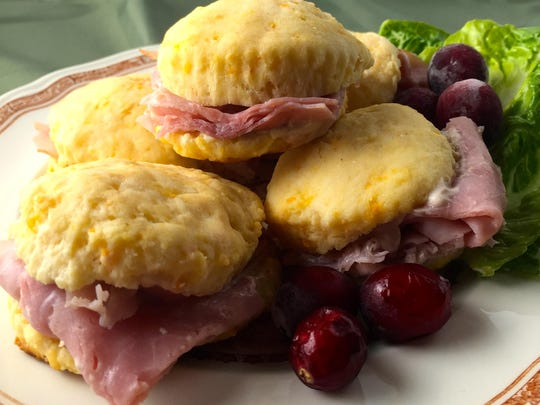 Sweet potato biscuits are perfectly delicious with ham for an Easter brunch.