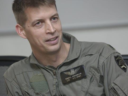 Lt. Col. Daniel R. Hokanson in 2004 at the Army Aviation