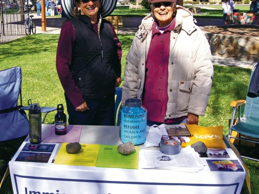Imigration Justice Network members participated in Earth Day in Gough Park on April 18.  Courtesy Photo