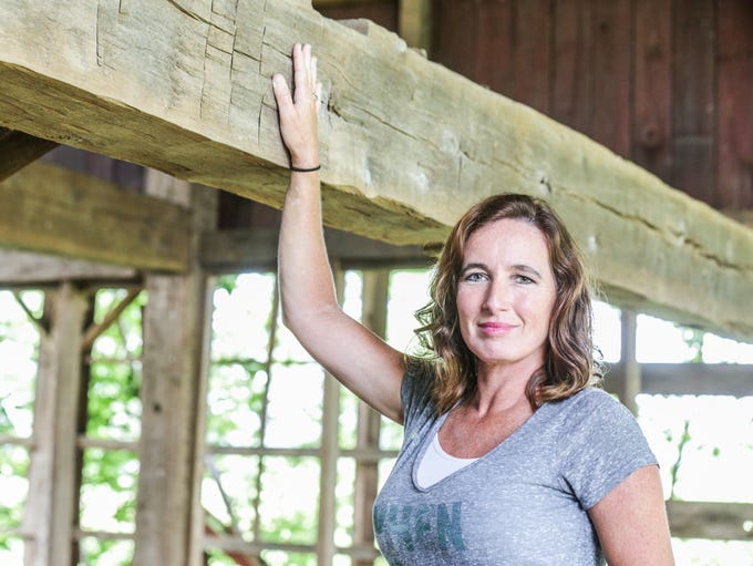 Angie Crouse, owner of Reclaimed Barns and Beams in