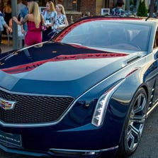 The Cadillac Elmiraj concept is presented with the North American Concept Car of the Year and Most Significant Concept Car of the Year awards Friday, June 27, 2014, at the Vinsetta Garage restaurant in Berkley.