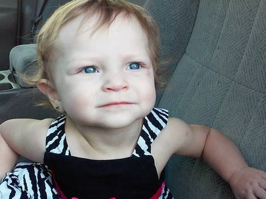 One-year-old Zoey Wagoner died May 28, 2015.