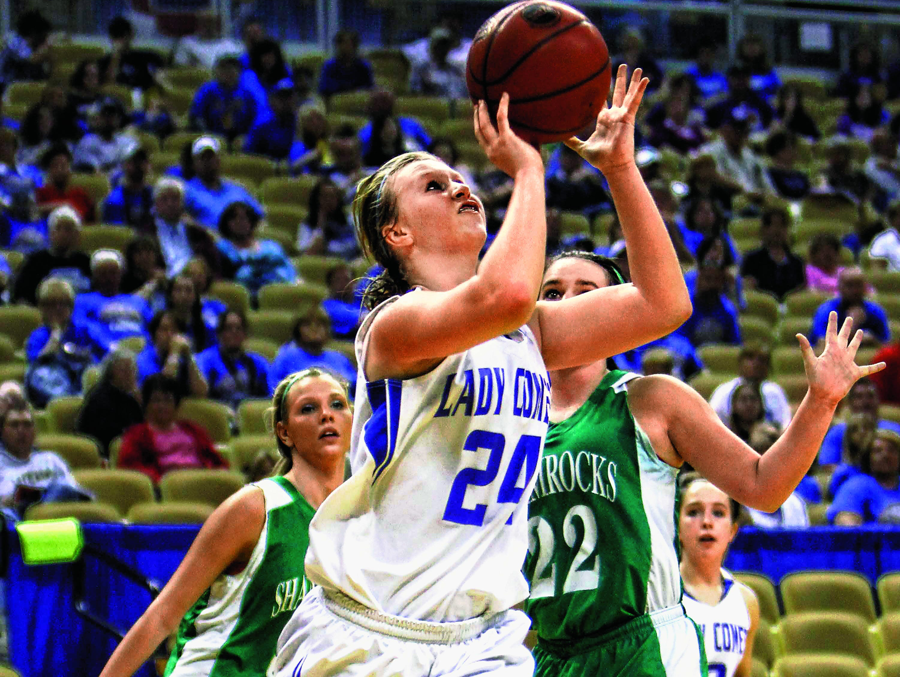 Four-time all-state basketball player Josie Young of Marionville is up for consideration for the Miss Show-Me Basketball award by the Missouri Basketball Coaches Association.