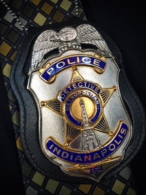 Indianapolis Metropolitan Police Department homicide detective badge.