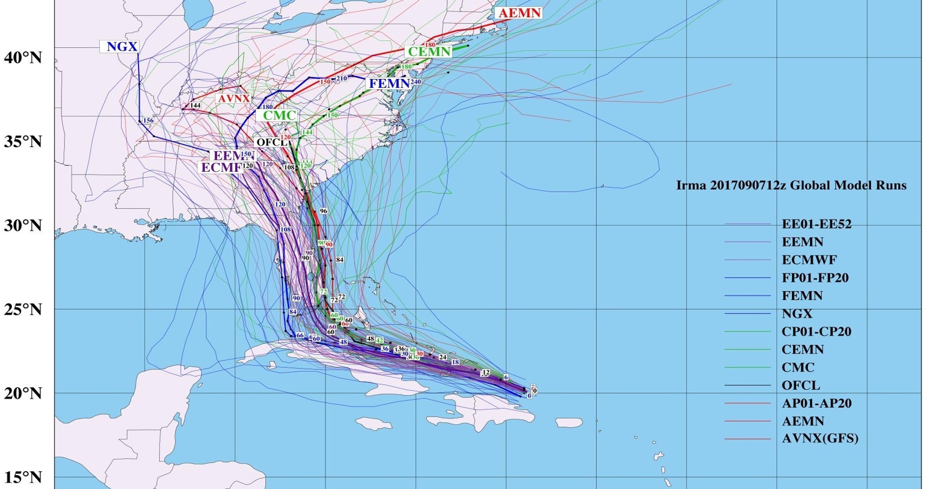 Analysis A Model Run Shocker May Lead To Westward Jog For Hurricane Irma