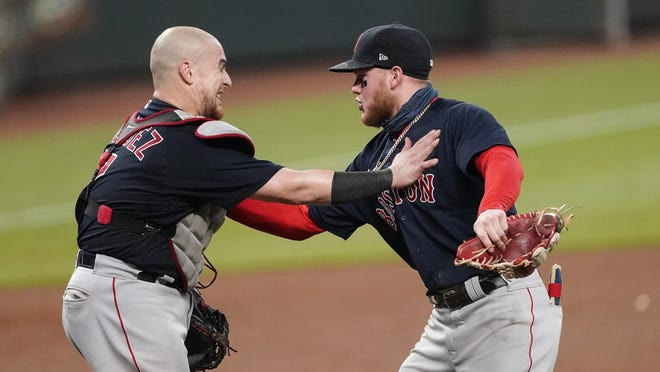 Alex Verdugo (right) could be among Red Sox players approached to extend his contract this offseason.