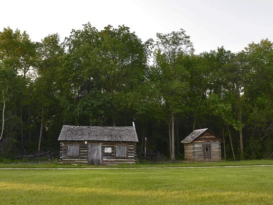 The Pioneer's Cabin at the Stearns History Museum is