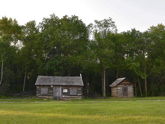 The Pioneer's Cabin at the Stearns History Museum is the oldest house standing in St. Cloud. It was built about 1855 by Balthasar Rosenberger.