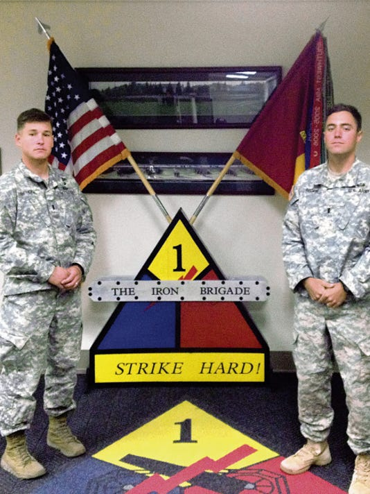 David Burge - El Paso Times 1st Lt. Brett Schuck, left, and 1st Lt. Christian Groom, both with 2nd Armored Brigade Combat Team, are Fort Bliss' best rangers.