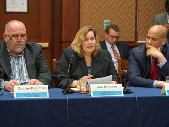 Sue Marticek, executive director of the Ocean County Long Term Recovery Group, talks during the first meeting of the Sandy Task Force at the U.S. Capitol on Tuesday afternoon.