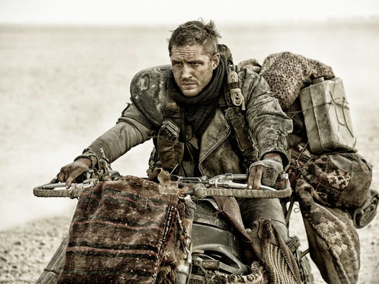 "Tom Hardy in a scene from ""Mad Max: Fury Road,"" in"