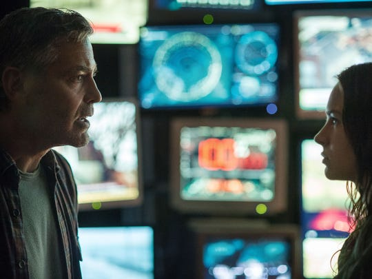 """George Clooney and Britt Robertson star in """"Tomorrowland."""""""