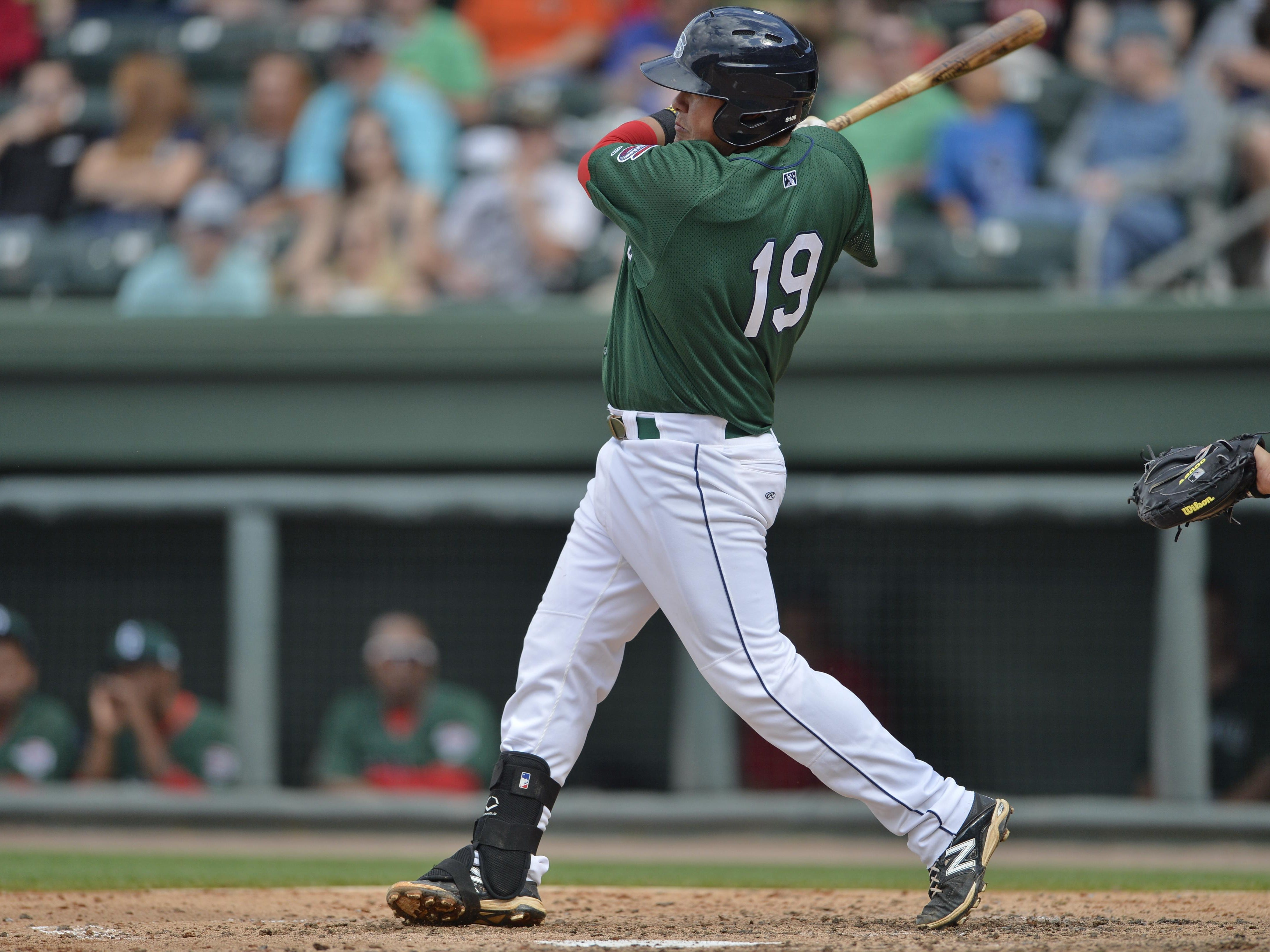 Cisco Tellez had a double for one of Greenville's 12 hits Saturday.