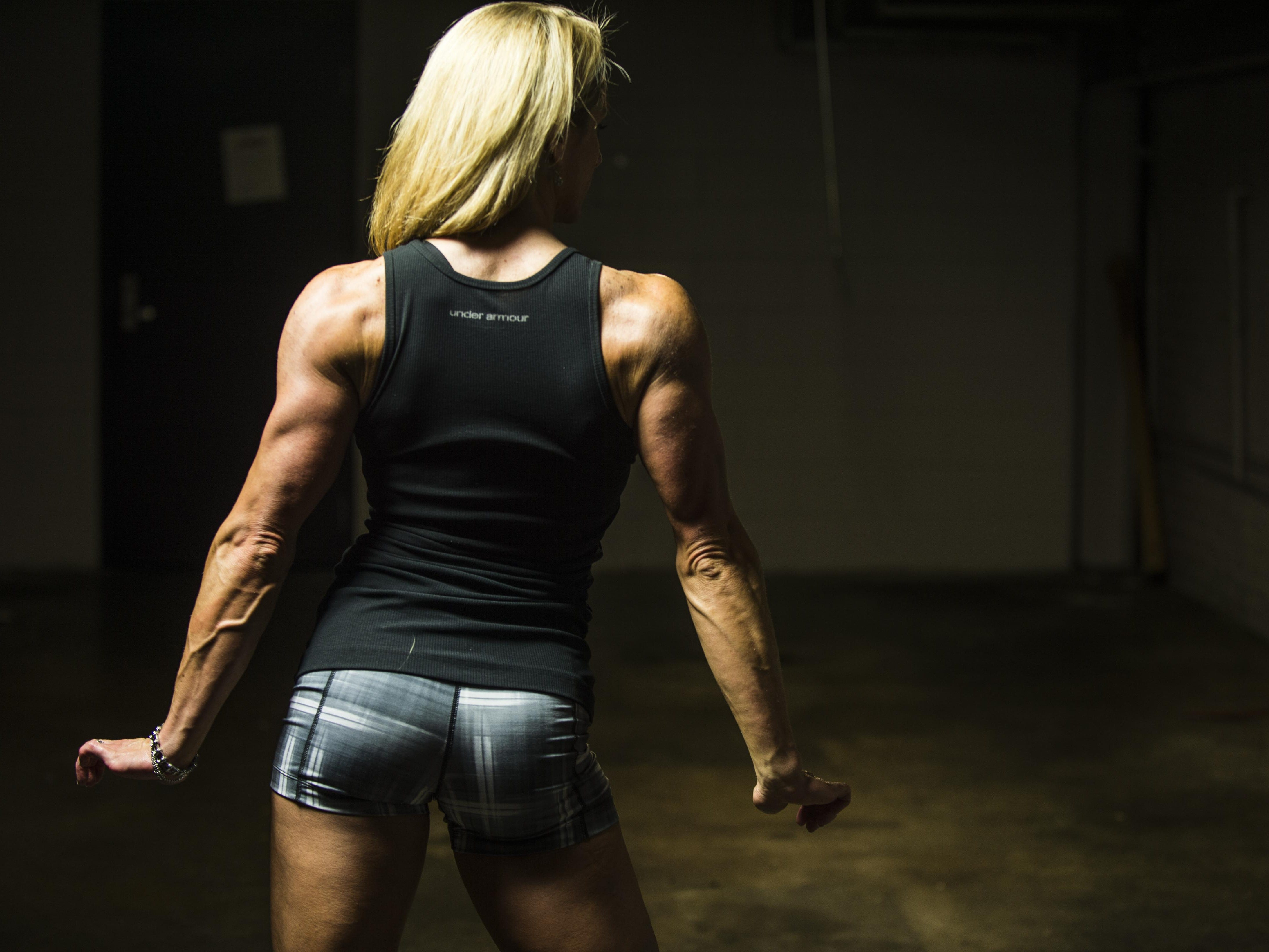 Marie Ann 'Mo' Newman poses for a portrait on Friday, July 31, 2015. Mo will compete in the Wings of Strength IFBB PBW Championships Tampa Pro in Tampa, Florida, on Friday, August 7.