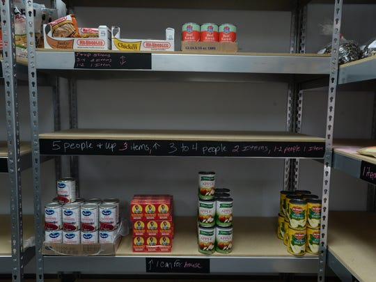 The food pantry at the Salvation Army Corps Community