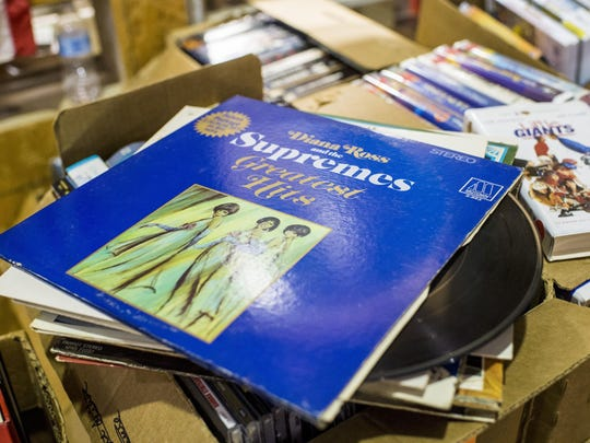 Vinyl records are just one thing you can find at the semi-annual Friends of the Lafayette Library Book Sale.