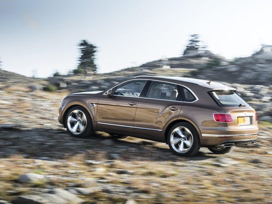Although the Bentayga runs on a 12-cylinder engine, built-in sensors detect when all that power and torque isn't needed.