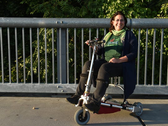 """Beth Wright, a Wappingers Falls resident who was diagnosed with ALS in 2013, is a vocal advocate for ALS in the Hudson Valley. She is participating in the ALS Walk on the Walkway Over the Hudson on Sunday with her team, """"The Wright Way."""""""